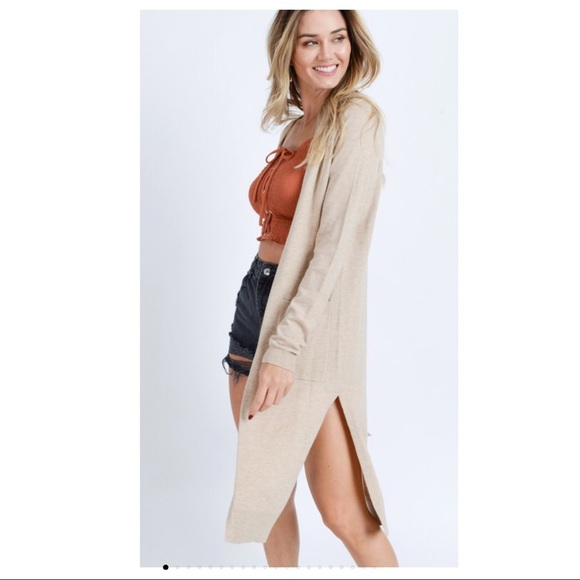 Sweaters - 🆕 The Softest Long Cardigan EVER in Oatmeal
